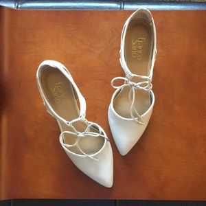 Tan Faux Leather Wedge